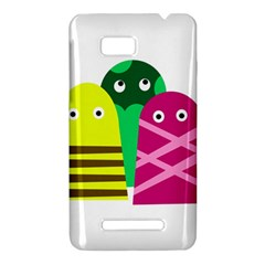 Three mosters HTC One SU T528W Hardshell Case