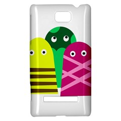 Three mosters HTC 8S Hardshell Case