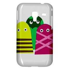 Three mosters Samsung Galaxy Ace Plus S7500 Hardshell Case