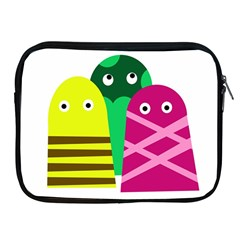 Three mosters Apple iPad 2/3/4 Zipper Cases