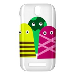 Three mosters HTC One SV Hardshell Case