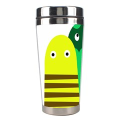Three mosters Stainless Steel Travel Tumblers