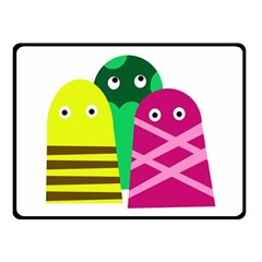 Three mosters Double Sided Fleece Blanket (Small)