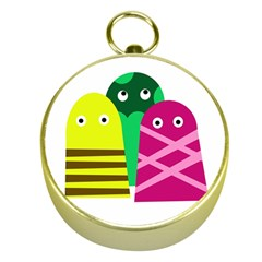Three mosters Gold Compasses