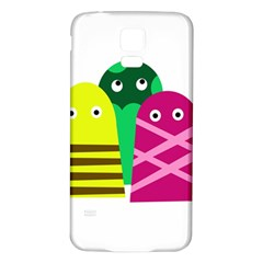 Three mosters Samsung Galaxy S5 Back Case (White)