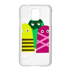 Three mosters Samsung Galaxy S5 Case (White)