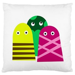 Three mosters Standard Flano Cushion Case (Two Sides)