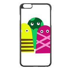 Three mosters Apple iPhone 6 Plus/6S Plus Black Enamel Case