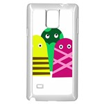 Three mosters Samsung Galaxy Note 4 Case (White) Front