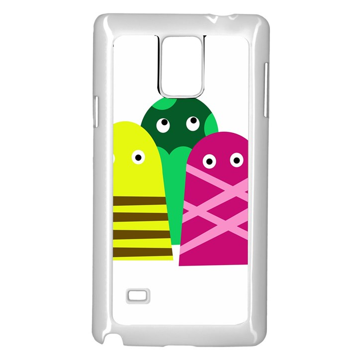 Three mosters Samsung Galaxy Note 4 Case (White)