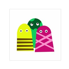 Three Mosters Small Satin Scarf (square)