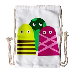 Three mosters Drawstring Bag (Large)