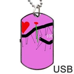 Centipedes Dog Tag USB Flash (One Side)
