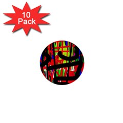 Colorful abstraction 1  Mini Buttons (10 pack)