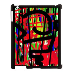 Colorful abstraction Apple iPad 3/4 Case (Black)