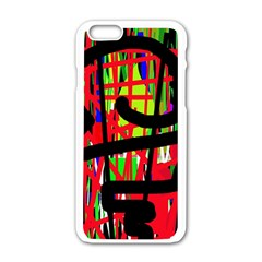 Colorful abstraction Apple iPhone 6/6S White Enamel Case