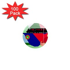 Abstract train 1  Mini Magnets (100 pack)