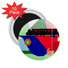 Abstract train 2.25  Magnets (10 pack)