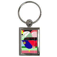 Abstract train Key Chains (Rectangle)