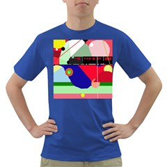 Abstract train Dark T-Shirt