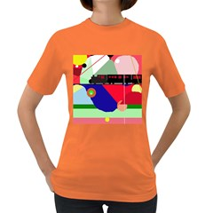 Abstract train Women s Dark T-Shirt