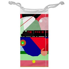 Abstract train Jewelry Bags
