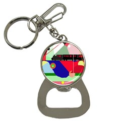 Abstract train Bottle Opener Key Chains
