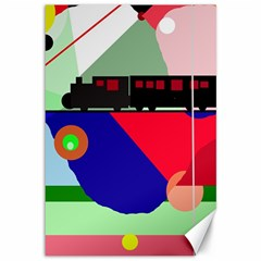 Abstract train Canvas 12  x 18