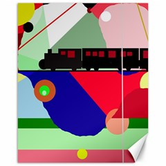 Abstract train Canvas 16  x 20