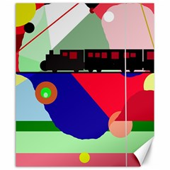 Abstract train Canvas 20  x 24