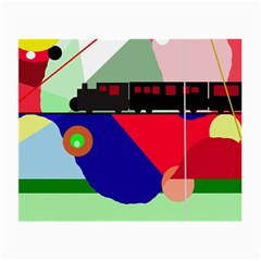 Abstract train Small Glasses Cloth (2-Side)