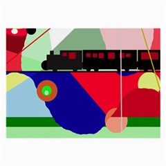 Abstract train Large Glasses Cloth (2-Side)