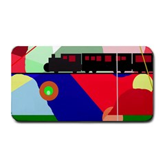 Abstract train Medium Bar Mats