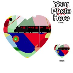 Abstract train Multi-purpose Cards (Heart)