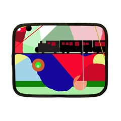 Abstract train Netbook Case (Small)