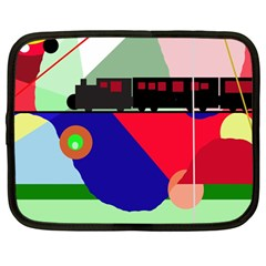 Abstract train Netbook Case (Large)