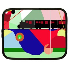 Abstract train Netbook Case (XXL)