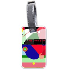 Abstract train Luggage Tags (One Side)