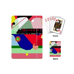 Abstract train Playing Cards (Mini)