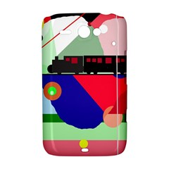 Abstract train HTC ChaCha / HTC Status Hardshell Case
