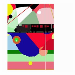 Abstract train Large Garden Flag (Two Sides)