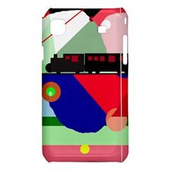 Abstract train Samsung Galaxy S i9008 Hardshell Case