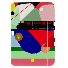 Abstract train Samsung Galaxy Tab 8.9  P7300 Hardshell Case