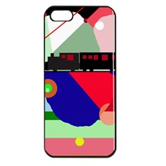 Abstract train Apple iPhone 5 Seamless Case (Black)