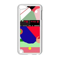 Abstract train Apple iPod Touch 5 Case (White)