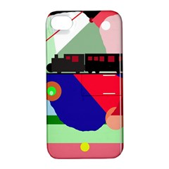 Abstract train Apple iPhone 4/4S Hardshell Case with Stand