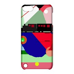 Abstract train Apple iPod Touch 5 Hardshell Case with Stand