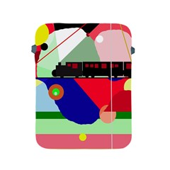 Abstract train Apple iPad 2/3/4 Protective Soft Cases
