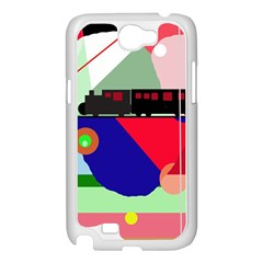 Abstract train Samsung Galaxy Note 2 Case (White)