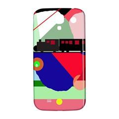 Abstract train Samsung Galaxy S4 I9500/I9505  Hardshell Back Case